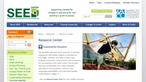 SEED website, sustainable energy, energy, education, community college